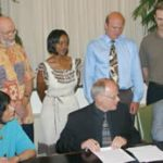 Signing ceremony for agreement linking South African University and UW-Milwaukee