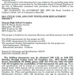 MPS Requesting BIDs for 2011 Cyclic Coil and Unit Ventilator Replacement at Juneau High School
