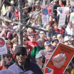 Thousands of protesters travelled to Madison for the anniversary of Scott Walker's attack on Wisconsin workers