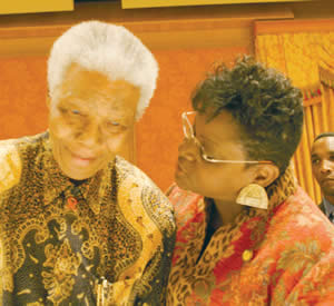 """The photo was taken May 16, 2005 during a meeting with the Congressional Black Caucus where Wisconsin Congresswoman had an opportunity to meet Nelson Mandela. Upon hearing of his death she released the following statement: """"Today we have lost a visionary leader and hero for human rights. Nelson Mandela broke the chains of oppression in South Africa and opened the hearts and minds of millions. His life's journey serves as an inspiration to all those who strive to create a more just world. He reaffirmed to all that hope and a steadfast dream of freedom will prevail over hatred and fear. His courage and strength freed a nation and reshaped our history. In 2005, I had the honor and blessing of meeting this remarkable man. It was a powerful moment that left an indelible mark.Though no words can wholly console those who mourn, my thoughts and prayers go out to every person touched by his kind spirit and resolve. May his legacy live on today and always."""""""