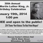30th Annual Dr. Martin Luther King, Jr. Birthday Celebration