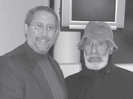 Steve Braunginn (left) with jazz legend Sonny Rollins during his visit to Madison in 2005