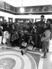 SDC youth during a visit on the Georgetown University Campus.
