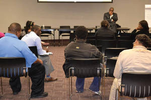 Residents provide recommendations to the SDC Task Force on Youth and Poverty during a forum at Hillside Family Resource Center