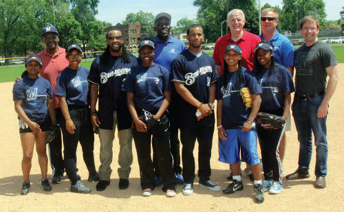 Tom-Barrett-Chris-Abele-Brewers-Community Foundation-dedicated-baseball-diamond-Sherman-Park-Rickie-Weeks-Khris-Davis-Larry-Hisle-Cecelia-Gore