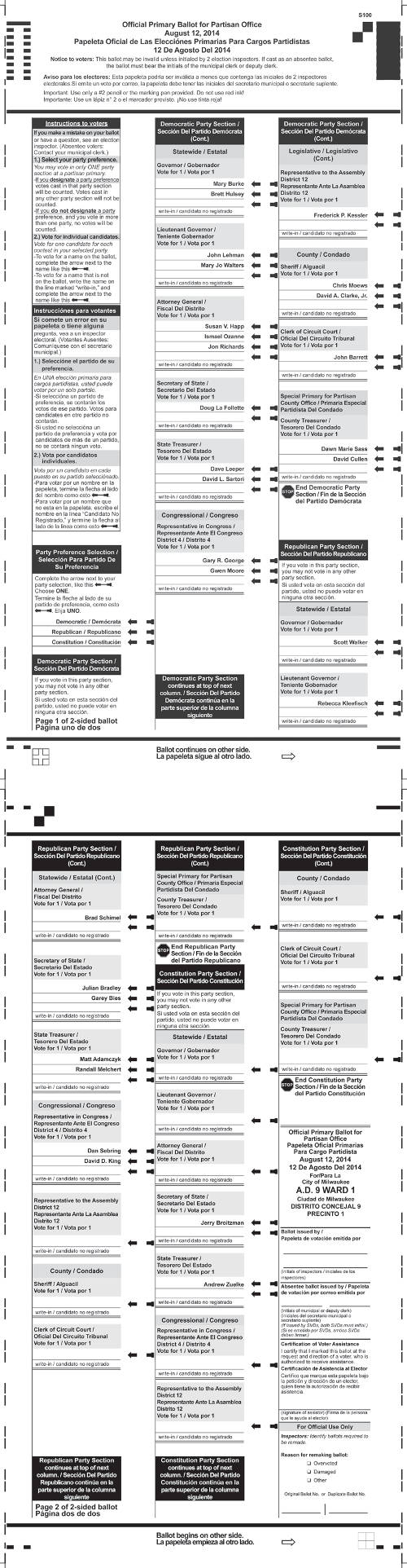 primary-election-partison-office-milwaukee-county-sample-ballot-optical-scan-august-12-2014