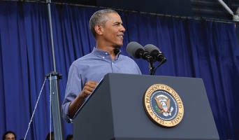 President Barack Obama at Labor Fest (Photo by Michele A. Kieweg.)