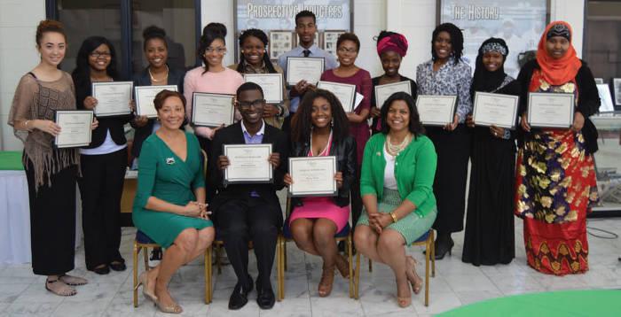 links-scholarship-brunch-recipients-Ana-Cortes-Tamyra-Cooper-Briana-Cross