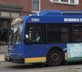 The Black Health Coalition and MICAH are advertising new bus routes that can take inner city residents to jobs in surrounding suburbs. (Photo by Maria Corpus)