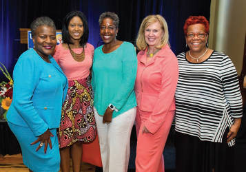 From left to right… Thelma A. Sias, WE Energies Jasmine Johnson, Pfizer Inc. Cecelia Gore, Brewers Community Foundation Mary Lou Young, United Way of Greater Milwaukee & Waukesha County Danae Davis, Milwaukee Succeeds