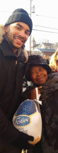 "Jerry Bayless, Milwaukee Bucks Guard and community elder, ""Mama Rose""."