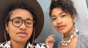 Yasmine Outlaw (right) pictured with her sister Milan Outlaw (left).