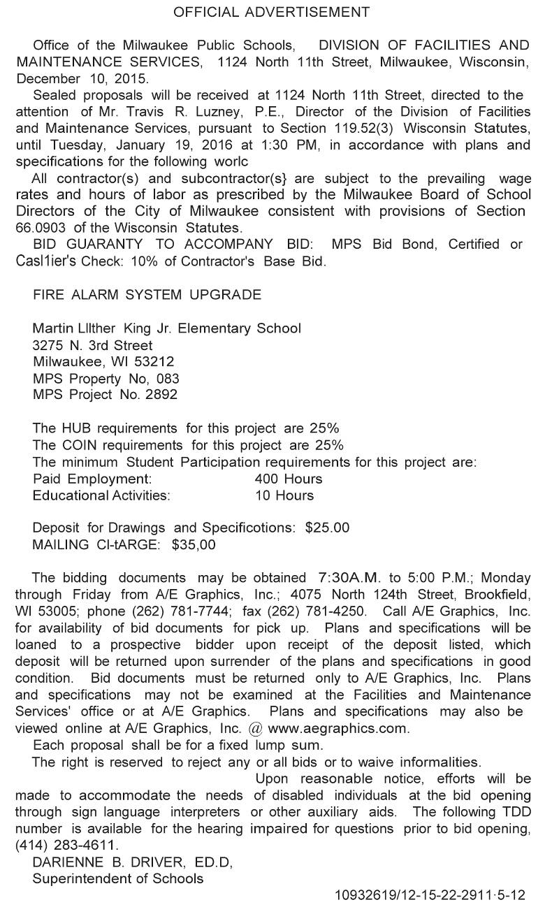 mps-requesting-bids-fire-alarm-system-upgrade-martin-luther-king-jr-elementary-school