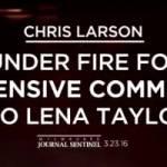 Chris Larson and Lena Taylor Dispute on Fox 6 News – Video