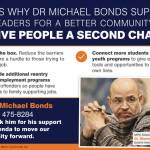 Dr. Michael Bonds Supports Community Plan To Give People A Second Chance