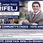 Vote Judge Paul Rifelj for Branch 31
