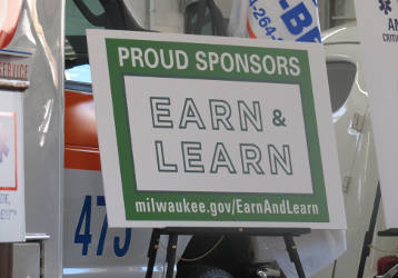 Earn & Learn Event Poster (Photo by Karen Stokes)