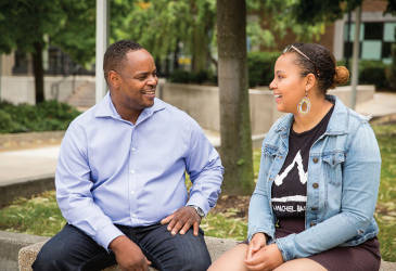The Wilsons are making UWM a family tradition. Father Jon Wilson graduated from UWM in May of 2015, just a few months before his daughter, Nia Wilson, became a freshman at Wisconsin's only public urban research institution.