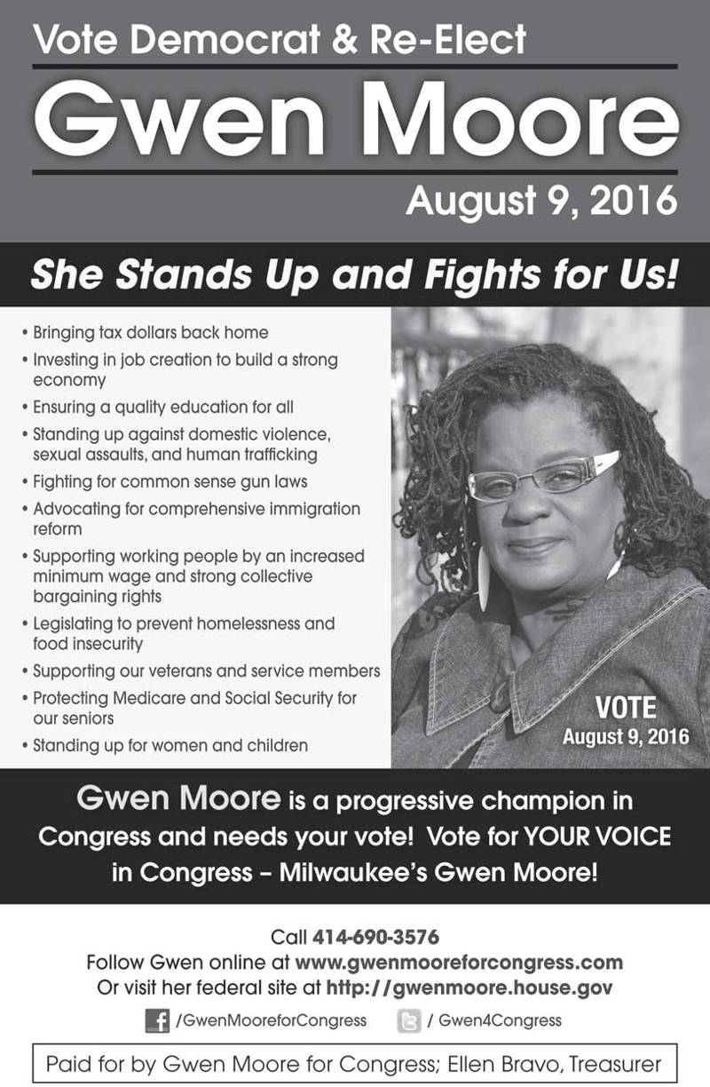 vote-democrat-re-elect-gwen-moore-august-9th