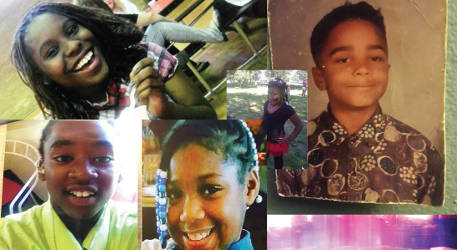 Jonosha Alexander 17, Giovannie Cameron 13, ZaLayla Jenkins 9, Sierra Guyton 10 and Marcus Deback 9. Children of families who were affected by gun violence in Milwaukee. (Photo courtesy of CBS 58)