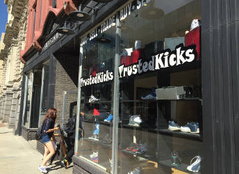 Trusted Kicks is located downtown at 532 N Water St, Milwaukee, WI 53202. (Photo by Dylan Deprey)