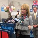 Former US Representative Gabby Giffords Campaigns in Milwaukee for Common Sense Gun laws