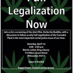 Film Screening and Discussion on Legalization of Cannabis on April 1st