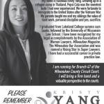 Vote Kristy Yang For Judge, Milwaukee County Circuit Court Branch 47