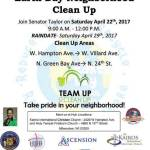 Community Earth Day Neighborhood Cleanup on April 22nd