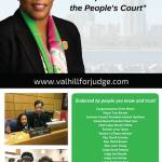 Re-Elect Judge Valarie Hill on Tuesday April 4th