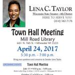 Town Hall Meeting with Lena Taylor on April 24