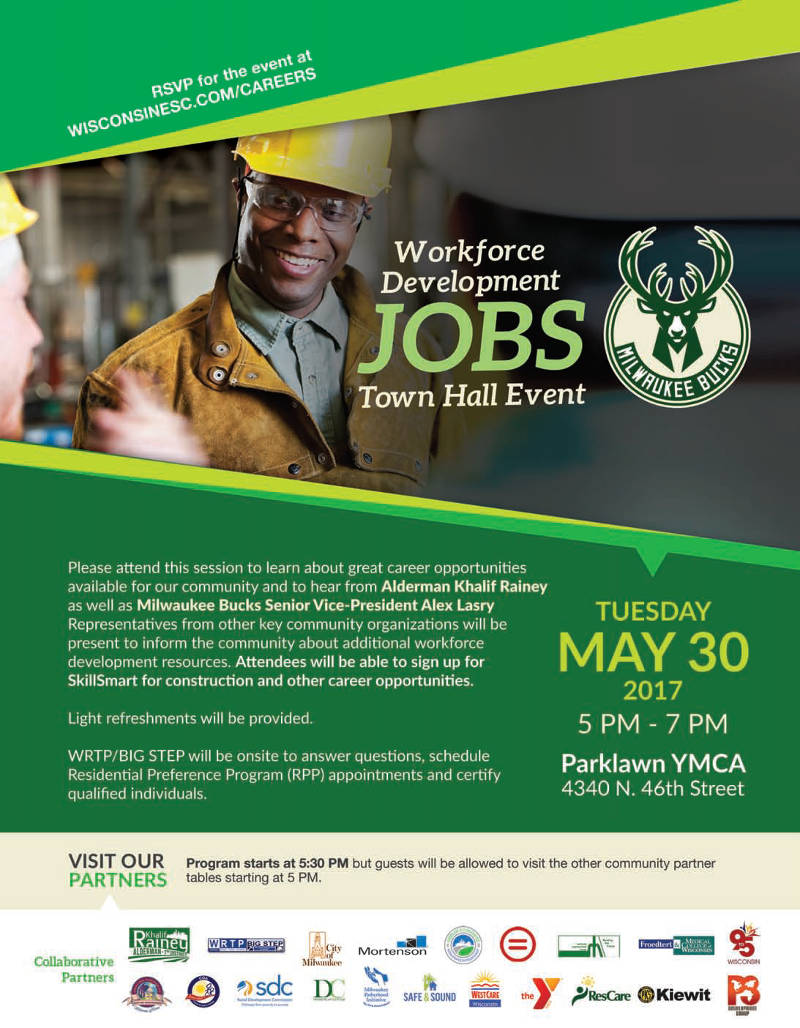 Jobs Town Hall Event on Tuesday May 30th at Parklawn YMCA