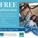 Milwaukee Public Museum Free Admission On Saturday August 12th
