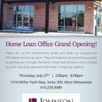 Johnson Bank Home Loan Office Grand Opening On July 27th