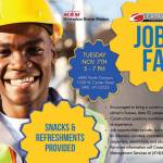 Construction Jobs Fair on Tuesday November 7th