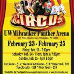Shrine Circus at UW-Milwaukee Panther Arena Feb 23-25