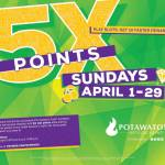 Spring Forward with 5X the Slot Points Sundays in April at Potawatomi Hotel & Casino