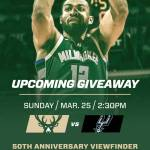 50th Anniversary Viewfinder Giveaway at Bucks Game on March 25th