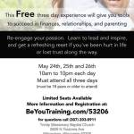 Free Three Day Experience Gives Tools To Succeed In Finances, Relationships and Parenting on May 24-26
