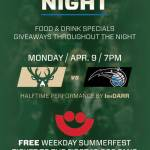 Milwaukee Bucks Fan Appreciation Night Monday April 9th