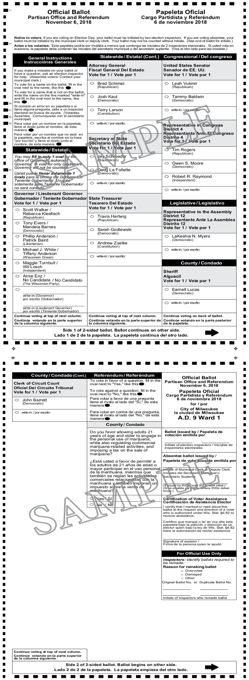 Notice of General Election, Advisory Referendum and Sample