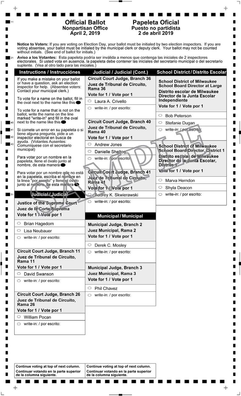 Fifth image of Notice Of Spring Election And Sample Ballots April 1 2014 with Notice of Spring Election and Sample Ballots April 2, 2019