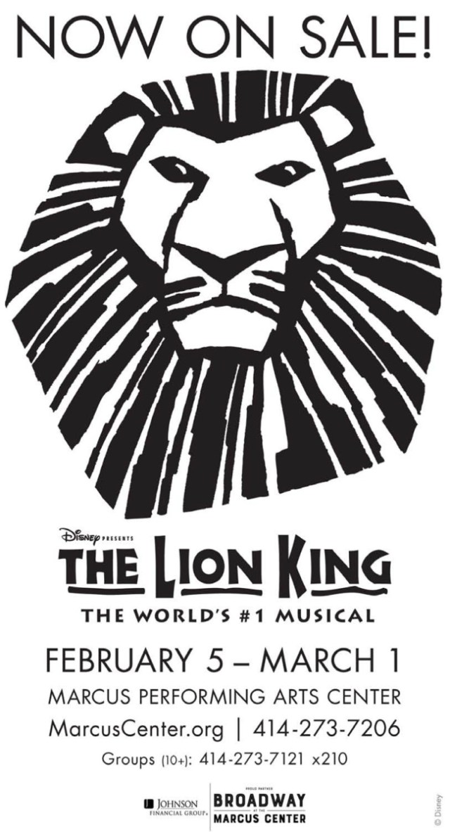 The Lion King Musical Coming February 5 To March 1