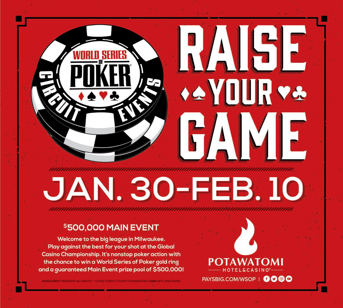 World Series Poker Circuit Events January 30 to February ...
