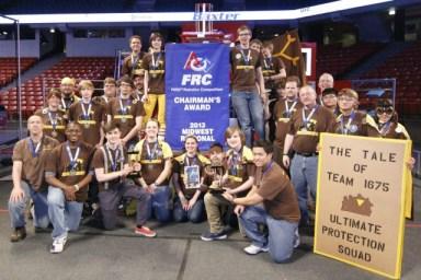 Robotics Team wins Chairmans award