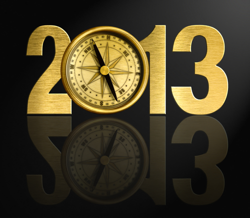 2013-new-year-digits-with-golden-compass-illustration