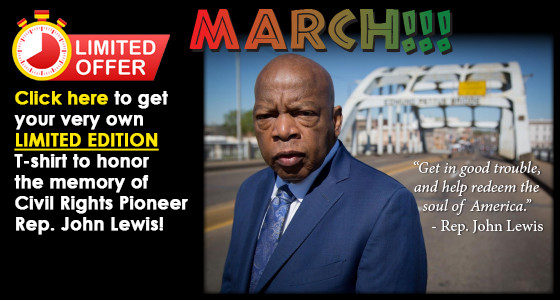 Get Your T-Shirt to Honor The Memory of Civil Rights Pioneer John Lewis