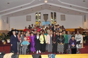 Church Women United members hold their April general meeting