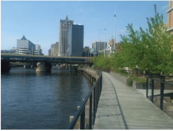 down town river