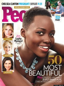 "Lupita Nyong'o on the cover of People Magazine's ""50 Most Beautiful"" issue."